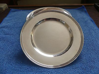 "International Sterling Silver Bread Plate 6"" Lord Saybrook Pattern H413"