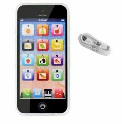 Toy Phone BLACK Smart Phone Baby Children's Educational Learning Kids Iphone USB