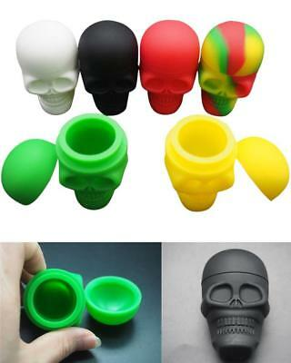 6pcs Skull Silicone Container Wax Dab Jar Platinum Cured Travel Non Stick Large