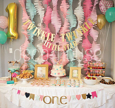 Tissue Paper Fringe Tassel Garland Wedding Party Baby ShowerDecor Photo Backdrop