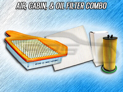 Air, Cabin, & Oil Filter Combo For 2011 2012 2013 Dodge Grand Caravan 3.6L Only