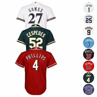 MLB Majestic Official Cool Base Player Jersey Collection Youth Size S-XL (8-20)