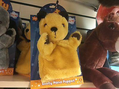 "Official Sooty Show Sooty 10"" Hand Glove Puppets Soft Toy New On Header Card"
