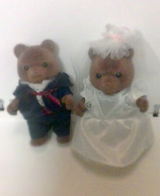 Vtg Epoch Bride And Groom Wedding Bears From China
