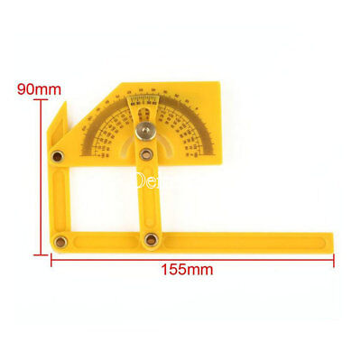 """New 6"""" Angle Finder Protractor Goniometer Miter Gauge Plastic Brass Fittings"""