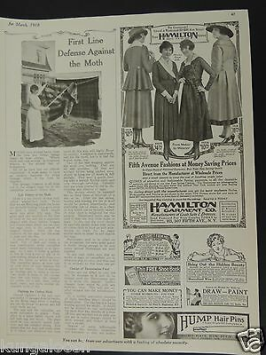 1918 Hamilton Garment Co. And Hump Hair Pins And Other Vintage Print Ads