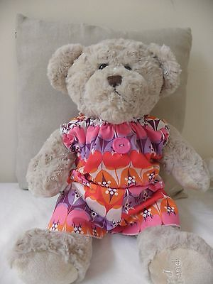 Retro Onsie to fit pumpkin patch teddy bear or 15inch bear