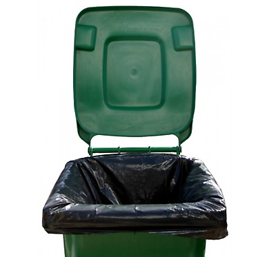 High Quality Extra Large Wheelie Bin Liners Waste Rubbish Bags 300L