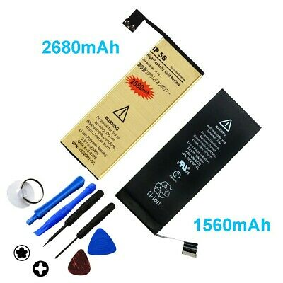 High-Capacity Internal Replacement Battery for iPhone 4 4S 5 5C 5S 6 6S Plus +