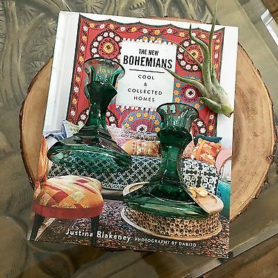 Pair Of Vintage Glass Candlestick Holders
