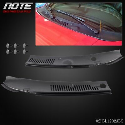 2Pc For 99-04 Ford Mustang Windshield IMPROVED Wiper Cowl Vent Grille Panel Hood