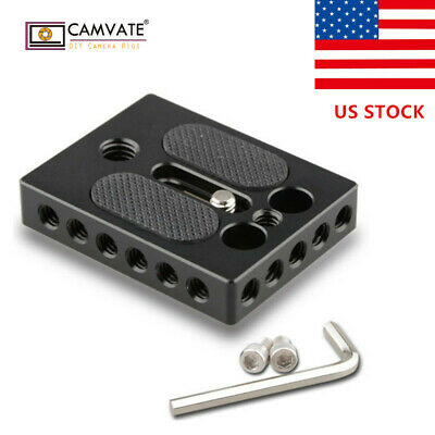 "US CAMVATE 1/4"" 3/8"" Thread Cheese Plate QR Baseplate for DSLR Camera Cage Rig"