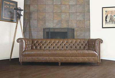 Astounding Vintage Schafer Bros Leather Chesterfield Tufted Sofa Couch Machost Co Dining Chair Design Ideas Machostcouk