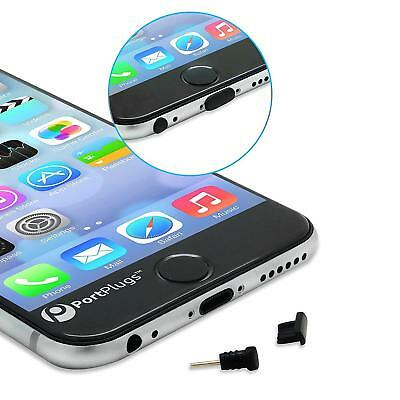 PortPlugs Dust Plug Set for iPhone 6, 6s, 6s - 5 Pairs of Low Profile Anti...