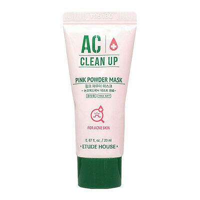 [ETUDE HOUSE] AC Clean Up Pink Powder Mask [Sample] 1/2pcs Lot