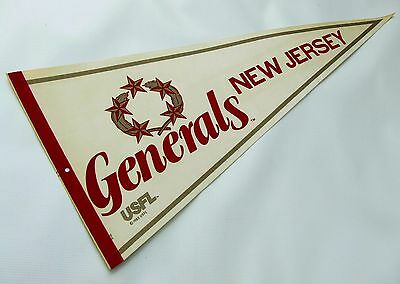 Vintage 1982-1983 USFL New Jersey Generals Football Pennant, Trump Owned Team NM