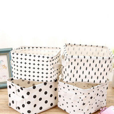 Hot Creative Cotton Linen  Storage Basket  Underwear Cosmetic Jewelry Container