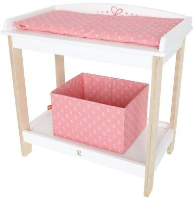 New Hape Wooden Baby Doll Changing Table Childrens Toy