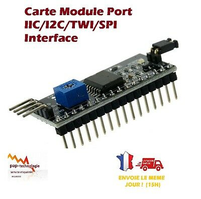 Serial Board Module Port IIC/I2C/TWI/SPI Interface Adaptateur 2004 /1602 LCD
