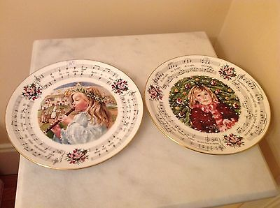 Royal Doulton Christmas Carols Plate 1985 1983 Set of 2