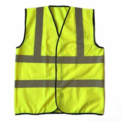 Diamond High Visibility Neon Reflective Front Safety Vest with Reflective-XL