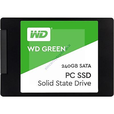 "WESTERN DIGITAL WD GREEN 2.5"" 7MM 540MB/s Read 240GB SOLID STATE DRIVE NEW A"