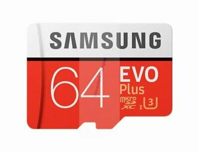SAMSUNG EVO PLUS MICRO SDXC 100MB/s Read 60MB/s Write 64 GB FLASH MEMORY CARD A