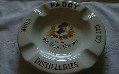 Old Cork Distilleries Paddy Irish Whisky Ashtray Pub