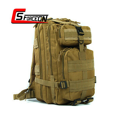 600D Military Hiking Trekking Molle Tactical Backpack Rucksack Knapsack Bag Tan