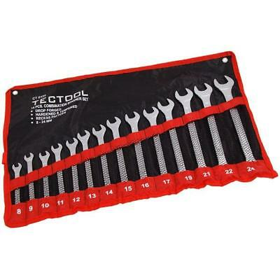 Pro 14Pc Combination Metric Spanner Wrench Ring Set & Storage Bag 6-26Mm 0198