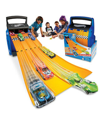 Hot Wheels 4 Track Racing Battle Case Multi Launcher