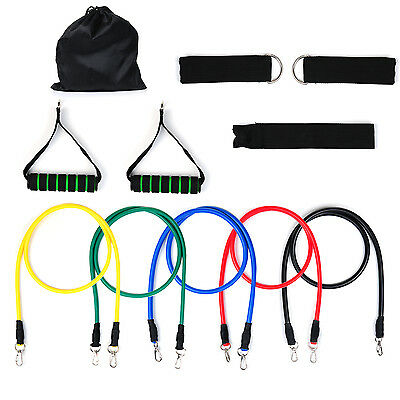 5pcs Resistance Bands Vitalismo Exercise Rubber Fitness Workout Sports Training