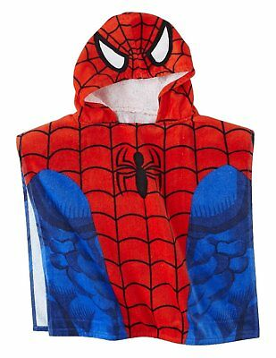Children's Marvel Ultimate Spiderman Hooded Bath Towel Poncho