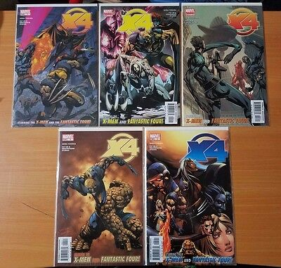 X4 X-Men Fantastic Four 1-5 Complete Set Run! ~ NEAR MINT NM ~ 2005 MARVEL COMIC