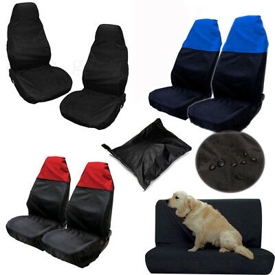 Universal Waterproof Car Front+Rear Back Seat Cover Pet Dog Heavy Duty Protector