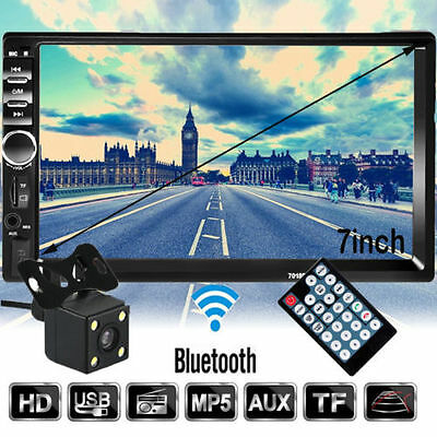 7'' Double 2DIN In Dash USB Car Player Bluetooth Auto Stereo Radio Touch+Camera