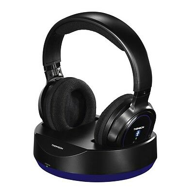 Thomson WHP6316BT Bluetooth Wireless Headphones with Charging station TV Hifi
