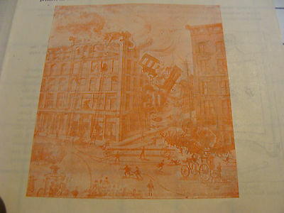 Vintage ORIGINAL paper: 1800's YOUR HOUSE IN ON FIRE--VICTOR SAFES AD BROCHURE