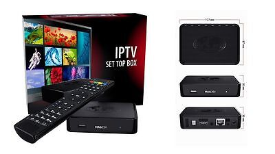 Mag 254 W1 WLAN WiFi 150Mbs IPTV Streamer Set Top Box Multimedia Internet TV HD
