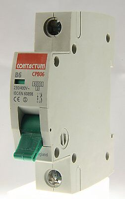 Contactum Cpb Single Pole B Type Mcb 6A/10A/16A/20A/32A/40A/50A