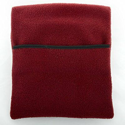 Hotties Microhottie Burgandy Red Polyester Fleece Microwavable Hot Water Bottle