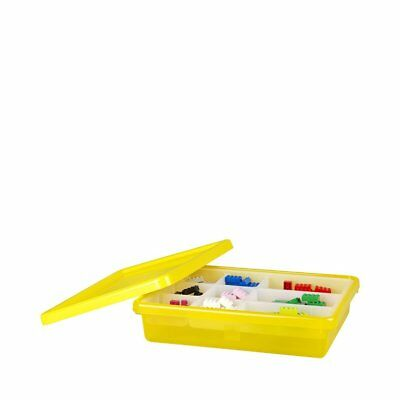 LEGO Storage Box with Tray and Lid, Small, Yellow