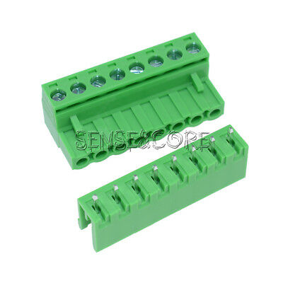10sets 2EDG 8P Plug-in Screw Terminal Block Connector 5.08mm Pitch Right Angle