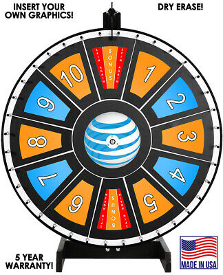 """30"""" Insert Your Own Graphics Prize Wheel with Black Magnetic Frames"""