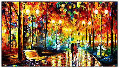 Walk In The Park Oil Painting Art CANVAS HD 20x30""