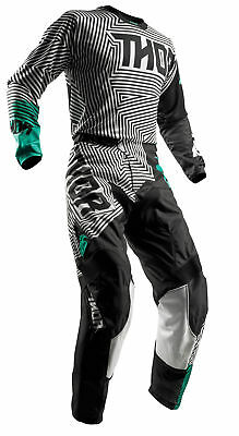 THOR MX Motocross Men's 2018 PULSE GEOTEC Jersey/Pants Kit (Black/Teal)
