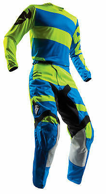 THOR MX Motocross Mens 2018 PULSE LEVEL Jersey/Pants Kit (Blue/Lime) Choose Size