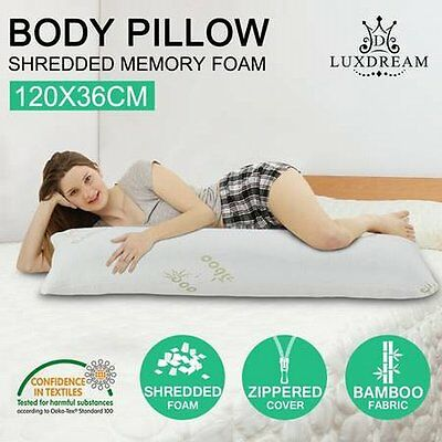 NEW Big Size Design Shredded Memory Foam Body Pillow with Bamboo Fabric Cover