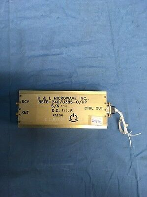 K&L Microwave 8SFB-240/U385-O/HP 8-Channel Switched Filter Bank