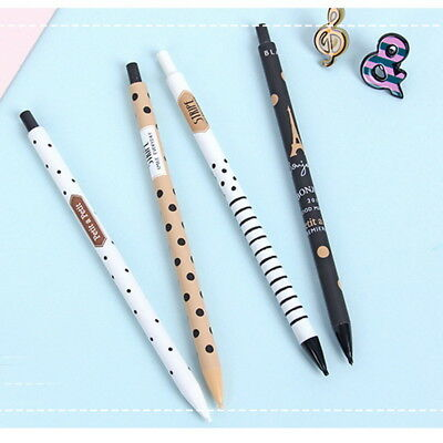 Graceful 2PCS New 0.5mm Cute Plastic Pencil Lovely Dots Tower Automatic Pen